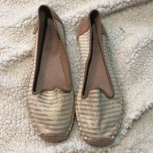 Sperry Gold and White Espadrille